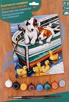 Нарисувай сам шедьовър - Кученца и патета - Творчески комплект -