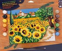 Нарисувай сам шедьовър - Слънчогледи - Творчески комплект - аксесоар