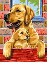Нарисувай сам шедьовър - Кучета - Творчески комплект - творчески комплект