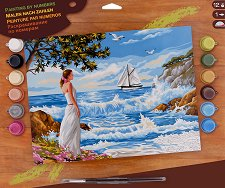 Нарисувай сам шедьовър - Морски бряг - Творчески комплект - продукт