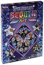 Създай сам картина с пайети и цветен брокат - Пеперуда - Творчески комплект - творчески комплект