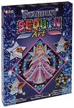 Създай сам картина с пайети и цветен брокат - Принцеса - Творчески комплект - играчка
