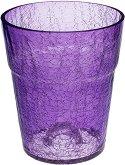 Стъклена кашпа за орхидея - Lightthu purple