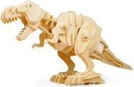 Хапещ Тиранозавър рекс - Дървен 3D пъзел-робот със звуков контрол -