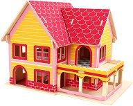 Моят дом - 3D пъзел за оцветяване от дърво - пъзел