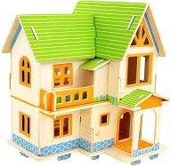 Европейска къща - 3D пъзел за оцветяване от дърво -
