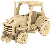 Трактор - 3D пъзел от дърво с дистанционно управление -