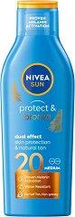 """Nivea Sun Protect & Bronze Sun Lotion - Слънцезащитен лосион за естествен тен от серията """"Sun"""" - продукт"""