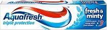 Aquafresh Triple Protection Fresh & Minty - Паста за зъби за тройна защита - нокторезачка