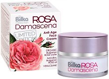 "Bilka Collection Rosa Damascena Anti-Age Face Cream - Подмладяващ крем за лице от серията ""Rosa Damascena"" - крем"