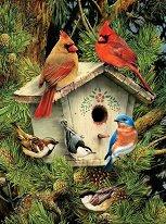 Нарисувай сам картина - Къщичка за птици - играчка