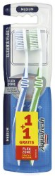Aquafresh Duo Clean & Flex - Medium - Четка за зъби 1 + 1 подарък - лосион