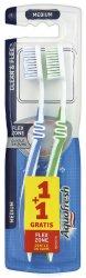 Aquafresh Duo Clean & Flex - Medium - Четка за зъби 1 + 1 подарък - сапун
