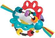 Дрънкалка с дъвкалка - Топка Откривател - За бебета над 6 месеца - играчка