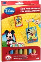 Оцветявай с цветен пясък - Мики Маус и Доналд Дък - Творчески комплект за рисуване - несесер