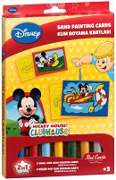 Оцветявай с цветен пясък - Мики Маус - Творчески комплект за рисуване - пъзел