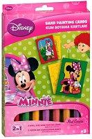 Оцветявай с цветен пясък - Мини Маус и Дейзи Дък - Творчески комплект за рисуване - творчески комплект