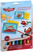Оцветявай с цветен пясък - Самолети - Творчески комплект за рисуване -