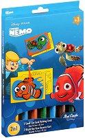 Оцветявай с цветен пясък - Търсенето на Немо - Творчески комплект за рисуване - играчка
