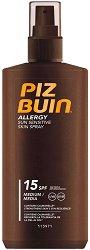 """Piz Buin Allergy Sun Sensitive Skin Spray - Слънцезащитен спрей за чувствителна кожа от серията """"Allergy"""" - гел"""