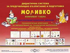 Моливко: Комплект табла. Конструктивно-технически и битови дейности : За деца в подготвителна група на детската градина - Радка Гайдова -