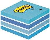 Самозалепващи листчета - синьо и бяло - Кубче от 450 листчета с размери 7.6 x 7.6 cm