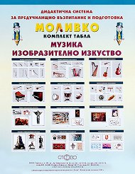 Моливко: Комплект табла по музика и изобразително изкуство : За деца в 1., 2., 3. и подготвителна група на детската градина -
