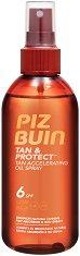 "Piz Buin Tan & Protect Accelerating Oil Spray - Слънцезащитно олио за бронзов тен от серията ""Tan & Protect"" - спирала"