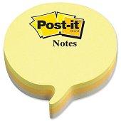 Самозалепващи неонови листчета в три цвята - Балон - Кубче от 225 листчета с размери 7 x 7 cm