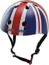 Детска каска - Флагът на Великобритания - Аксесоар за велосипедисти -