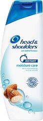 Head & Shoulders Instant Moisture Care - Овлажняващ шампоан против пърхот за сух скалп - четка