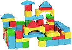 Цветен свят - Детски дървен конструктор - творчески комплект