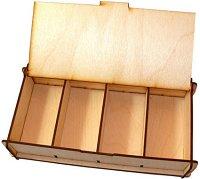 Кутия за съхранение на игрови компоненти - Сглобяем аксесоар от дърво - играчка