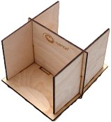 Стойка за карти - Сглобяем аксесоар от дърво с две отделения - играчка