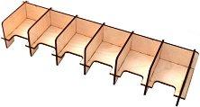 Стойка за карти - Сглобяем аксесоар от дърво с шест отделения - играчка