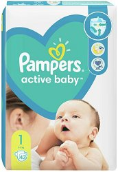Pampers Active Baby 1 - New Born - Пелени за еднократна употреба за бебета с тегло от 2 до 5 kg - продукт
