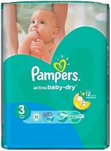 Pampers Active Baby Dry 3 - Midi - Пелени за еднократна употреба за бебета с тегло от 4 до 9 kg - продукт