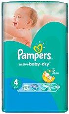 Pampers Active Baby Dry 4 - Maxi - Пелени за еднократна употреба за бебета с тегло от 7 до 14 kg - продукт