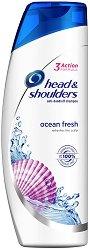 Head & Shoulders Ocean Fresh Shampoo - Шампоан против пърхот с морски минерали - дамски превръзки