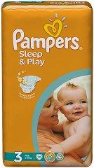 Pampers Sleep & Play 3 - Midi - Пелени за еднократна употреба за бебета с тегло от 4 до 9 kg - продукт