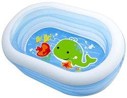 Овален детски басейн - Надуваема играчка -