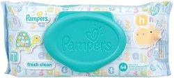 Pampers Fresh Clean Baby Wipes - Бебешки мокри кърпички в опаковки от 1 ÷ 6 пакета - продукт