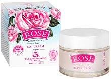 """Дневен крем за лице с розово масло - От серията """"Rose"""" - серум"""