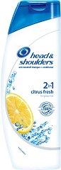 Head & Shoulders Citrus Fresh 2 in 1 - Шампоан и балсам против пърхот за мазна коса 2 в 1 -
