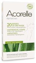 Acorelle Hair Removal Cold Wax Strips - Комплект от 20 броя eпилиращи ленти за лице -