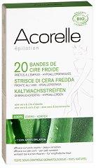 Acorelle Hair Removal Cold Wax Strips - Комплект от 20 броя епилиращи ленти за тяло - крем