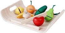 Плодове и зеленчуци за игра - Комплект дървени играчки - играчка