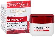 """L`Oreal Revitalift Day Cream - Дневен крем против бръчки от серията """"Revitalift"""" - продукт"""