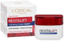 """L`Oreal Revitalift Night Cream - Нощен крем против бръчки от серията """"Revitalift"""" - серум"""