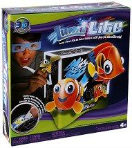 Светеща лампа с 3D ефект - Lumi Lite - Творчески комплект -